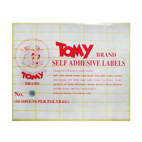 Giấy Decal Tomy 109