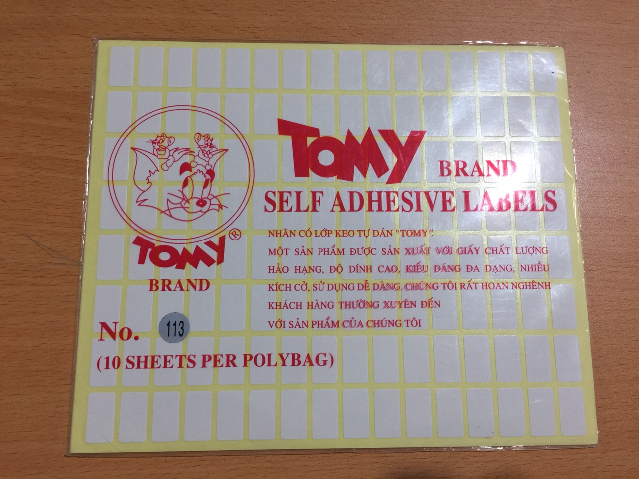 Giấy Decal Tomy 113