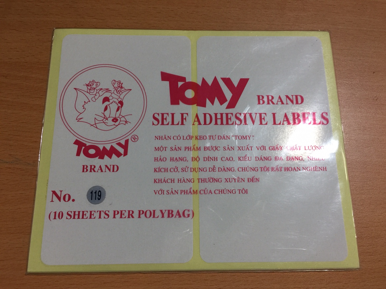Giấy Decal Tomy 119